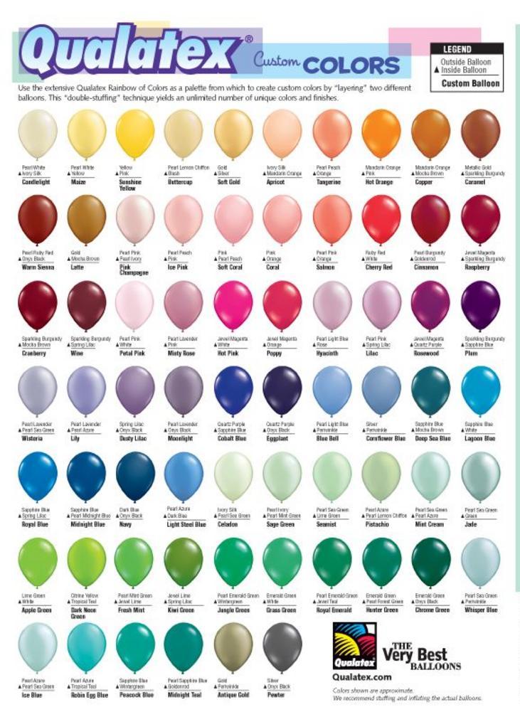 Latex Color Chart